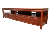 "Chinese Furniture - ff205r21tvp -  low cabinet plain design w/4 drawers & open section - 79"" x 20"" x 24.24"""
