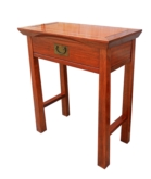 "Chinese Furniture - ff207r22ser -  shinto style serving table w/1 drawer - 27.5"" x 14"" x 32"""