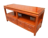 "Chinese Furniture - ff208r23tv -  t.v. cabinet plain design w/2 drawerslooked like 4 drawers - 48"" x 18"" x 24"""