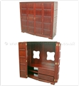 "Chinese Furniture - ff21f16tv -  T.v. cabinet multi-sq style - 57"" x 20"" x 61"""