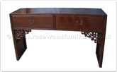 "Chinese Furniture - ff24981inv7 -  Serving table - 2 drawers plain design - 59"" x 16"" x 35"""