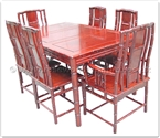 "Rosewood Furniture - ff25g2bdin -  Rectangular dining table bamboo style with 2+4 chairs - 59"" x 39"" x 30"""