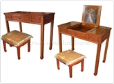 "Chinese Furniture - ff27g35dtab -  Dressing table with open mirror  and  stool - 36"" x 18"" x 30"""
