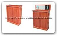 "Chinese Furniture - ff31e17scab -  Shoes cabinet with open mirror  - 43"" x 16"" x 53"""