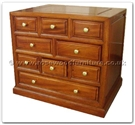 "Rosewood Furniture - ff32f12side -  Bedside cabinet plain design with 9 drawers - 22"" x 16"" x 20"""