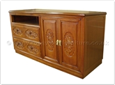 "Chinese Furniture - ff32f20tv -  T.v. cabinet flower and bird design - 53"" x 22"" x 26"""