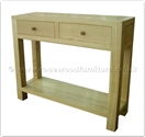 "Chinese Furniture - ff32f28hal -  Ashwood serving table plain design - 2 drawers and  shelf - 39"" x 12"" x 31"""