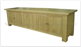"Chinese Furniture - ff32f30atv -  Ashwood t.v. cabinet plain design 4 wooden doors and folding door - 94"" x 24"" x 26"""