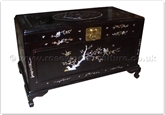 "Rosewood Furniture - ff35f9ch -  Chest with mother of pearl inlay - 40"" x 20"" x 23"""