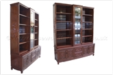 "Rosewood Furniture - ff37e26unitd -  Bookcase unit dragon design - set of 2 - 70"" x 19"" x 88"""