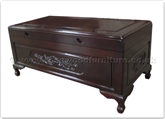 "Rosewood Furniture - ff40e11dc -  Chest oval dragon design  - 40"" x 20"" x 18"""