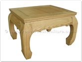 "Chinese Furniture - ff40e6aet -  Ashwood curved legs end table - 20"" x 24"" x 16"""