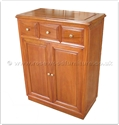 "Chinese Furniture - ff41e1tv -  T.v. cabinet plain design - 3 drawers and 2 doors - 26"" x 14"" x 34"""