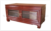 "Rosewood Furniture - ff42e47tv -  Curved legs t.v. cabinet - 2 glass doors -  open back  - 40"" x 20"" x 20"""
