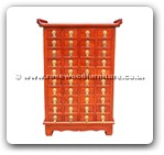 "Chinese Furniture - ff43f7kc40d -  Korean chest with 40 drawers - 21.5"" x 10"" x 34"""