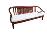 "Chinese Furniture - ff46f6sf -  ox bow 3 seater sofa open f&b design - 72"" x 22"" x 32"""