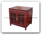 "Rosewood Furniture - ff47e18acf -  Audio cabinet open flower and bird carved with 2 doors - 23.5"" x 19.5"" x 24"""