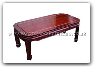 "Chinese Furniture - ff47e3cofp -  Round corner coffee table plain design - 40"" x 20"" x 16"""