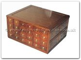 "Rosewood Furniture - ffexample -  48 Drawer combined Coffee Table ith  CD Cabinet - Holds 1300 CD,s - 46"" x 31"" x 32"""