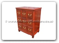 "Rosewood Furniture - ff52e12cdp -  C.D. cabinet plain design with 9 drawers - 24"" x 16"" x 31"""