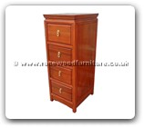 "Rosewood Furniture - ff52e15dvd -  D.V.D cabinet plain design with 4 drawers - 13"" x 16"" x 36"""