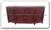 "Chinese Furniture - ff52e16bufb -  Angle buffet full flower and bird carved with 4 doors and 4 drawers - 72"" x 19"" x 34"""