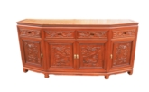 "Chinese Furniture - ff54e4bufd -  angle buffet full dragon carved w/4 doors & 4 deawers - 72"" x 19"" x 34"""