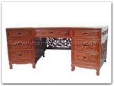 "Rosewood Furniture - ff7000 -   executive office desk dragon design and phoenix design - tiger legs - 84"" x 33"" x 31"""