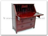 "Oriental Furniture Range - ORff7023l -  Writing desk with 4 drawers longlife design - 36"" x 14"" x 42"""