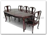 "Rosewood Furniture - ff7055f -  Oval dining table french design with 2+6 chairs - 82"" x 46"" x 30"""