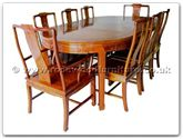 "Rosewood Furniture - ff7055l -  Dining table Longlife design with 2 and 6 chairs - 80"" x 44"" x 30"""