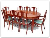 "Rosewood Furniture - ff7055m -  Monaco style oval dining table with 2+6 chairs - 80"" x 44"" x 30"""