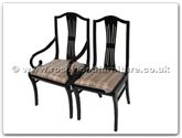 "Chinese Furniture - ff7055marmchair -  Monaco style dining arm chair with fixed cushion - 22"" x 19"" x 40"""
