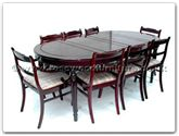 "Rosewood Furniture - ff7055x -  Round legs oval dining table with 2+6 low back chairs - 80"" x 44"" x 30"""