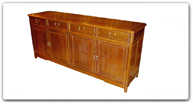 "Chinese Furniture - ff7109mcw -  Chicken wing wood ming style buffet - 72"" x 19"" x 32"""