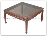 "Chinese Furniture - ff7227 -  Smoke glass top sq coffee table plain design - 30"" x 30"" x 16"""
