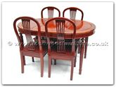 "Rosewood Furniture - ff7301a -  American style dining table with 4 side chairs - 56"" x 38"" x 30"""