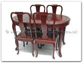 "Rosewood Furniture - ff7301f -  Oval dining table french design with 4 chairs - 54"" x 36"" x 30"""