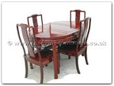 "Rosewood Furniture - ff7301l -  Oval dining table longlife design with 4 chairs - 54"" x 36"" x 30"""
