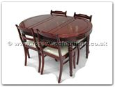 "Rosewood Furniture - ff7301x -  Round legs oval dining table with 4 low back chairs - 54"" x 36"" x 30"""