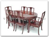 "Rosewood Furniture - ff7302b -  Oval dining table f and b design with 2+4 chairs - 62"" x 44"" x 30"""
