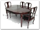 "Rosewood Furniture - ff7302f -  Oval dining table french design with 2+4 chairs - 64"" x 46"" x 30"""