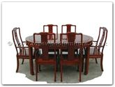 "Rosewood Furniture - ff7302l -  Oval dining table longlife design with 2+4 chairs - 62"" x 44"" x 30"""