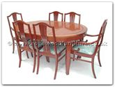"Rosewood Furniture - ff7302m -  Monaco style oval dining table with 2+4 chairs - 62"" x 44"" x 30"""