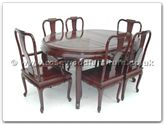 "Rosewood Furniture - ff7302q -  Queen ann legs oval dining table with 2+4 chairs - 64"" x 46"" x 30"""