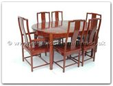 "Rosewood Furniture - ff7303os -  Ming Style Oval Dining Table With 2+4 Chairs - 62"" x 44"" x 30"""