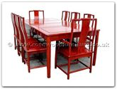 "Rosewood Furniture - ff7303s -  Ming Style Sq Dining Table With 2+6 Chairs - 80"" x 44"" x 30"""