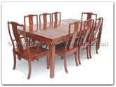 "Rosewood Furniture - ff7305l -  Sq dining table longlife design with 2+6 chairs - 80"" x 44"" x 30"""