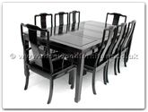 "Rosewood Furniture - ff7305p -  Sq dining table plain design with 2+6 chairs - 80"" x 44"" x 30"""