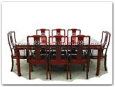 "Rosewood Furniture - ff7306d -  Round corner dining table dragon design with 2+6 chairs - 80"" x 44"" x 30"""